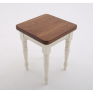 Farmhouse Style Stool - Shown with Pencil Round profile + 30mm Corners