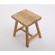 Rustic Style Stool - Shown in Oak with Rustic Profile / Square Corner