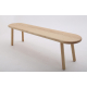 Simple Style Bench - Shown in Ash with BullNose Edge + Semi-circle Corners- Clear Lacquer