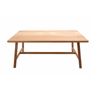Rustic Style Table - Shown in Oak with Rustic Profile / Square Corner