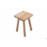 Simple Stool Made To Order - Shown in Ash with 50mm Radius Corners & Bullnose edge profile