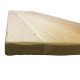 Square Ash top Made to measure - 50mm radius corners + Bullnose edge