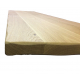 Oak shelf with Rustic edge profile