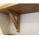 Oak Shelf Cut to size with 'A' Bracket